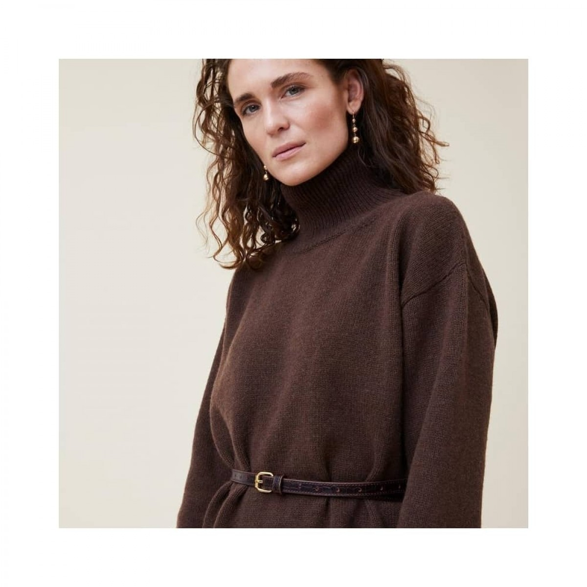manny pullover - dark brown