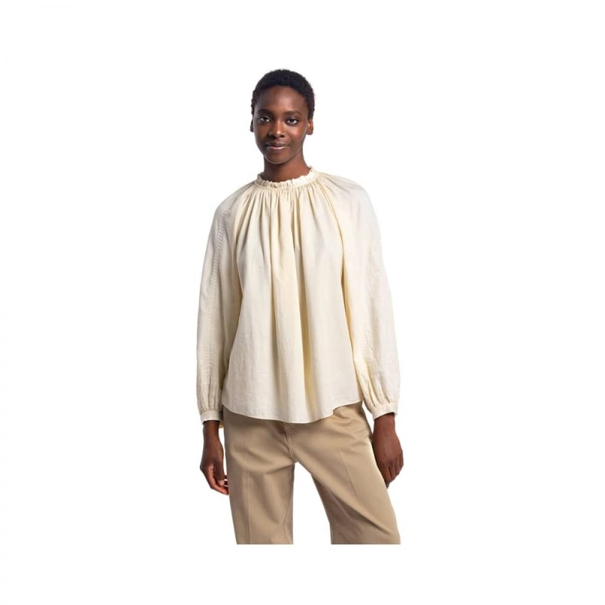meyer bluse - ivoire - model front