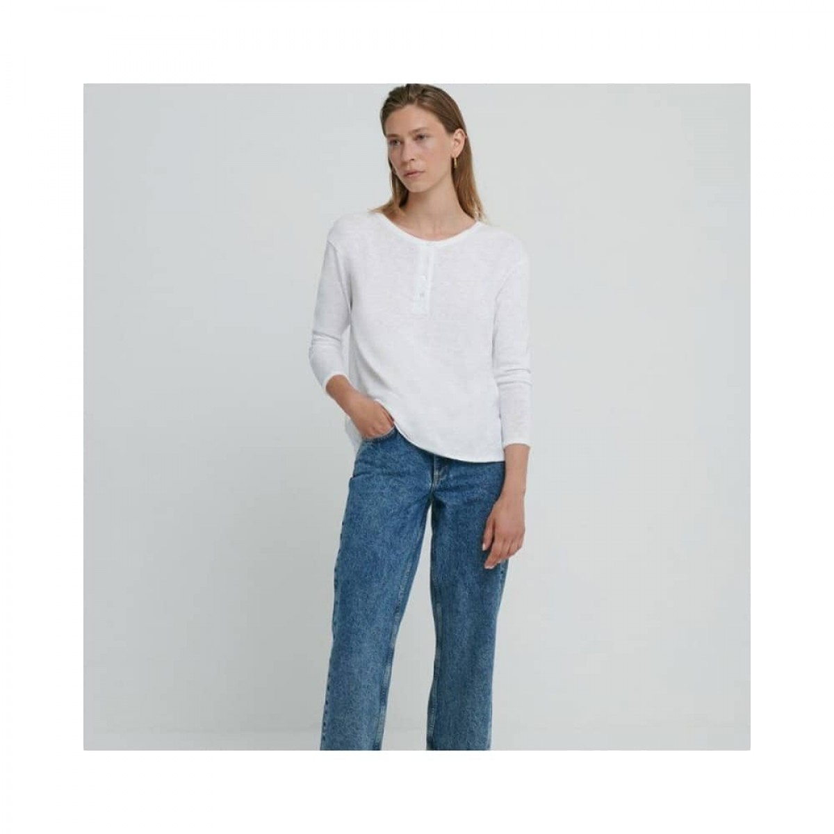 sonoma bluse - white - model front