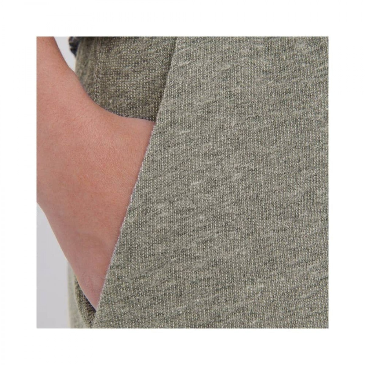 plomer sweat bukser - heather grey - lomme detalje