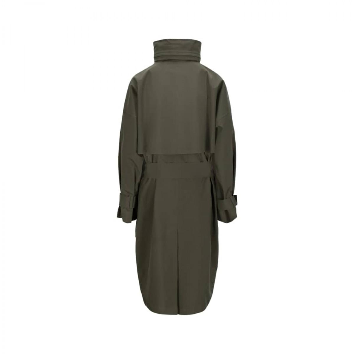 brosundet regn frakke - dark olive - ryggen