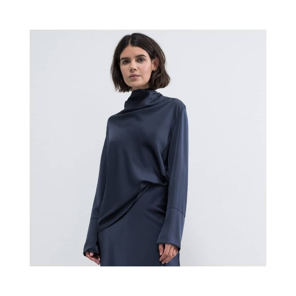ayumi bluse - blue grey