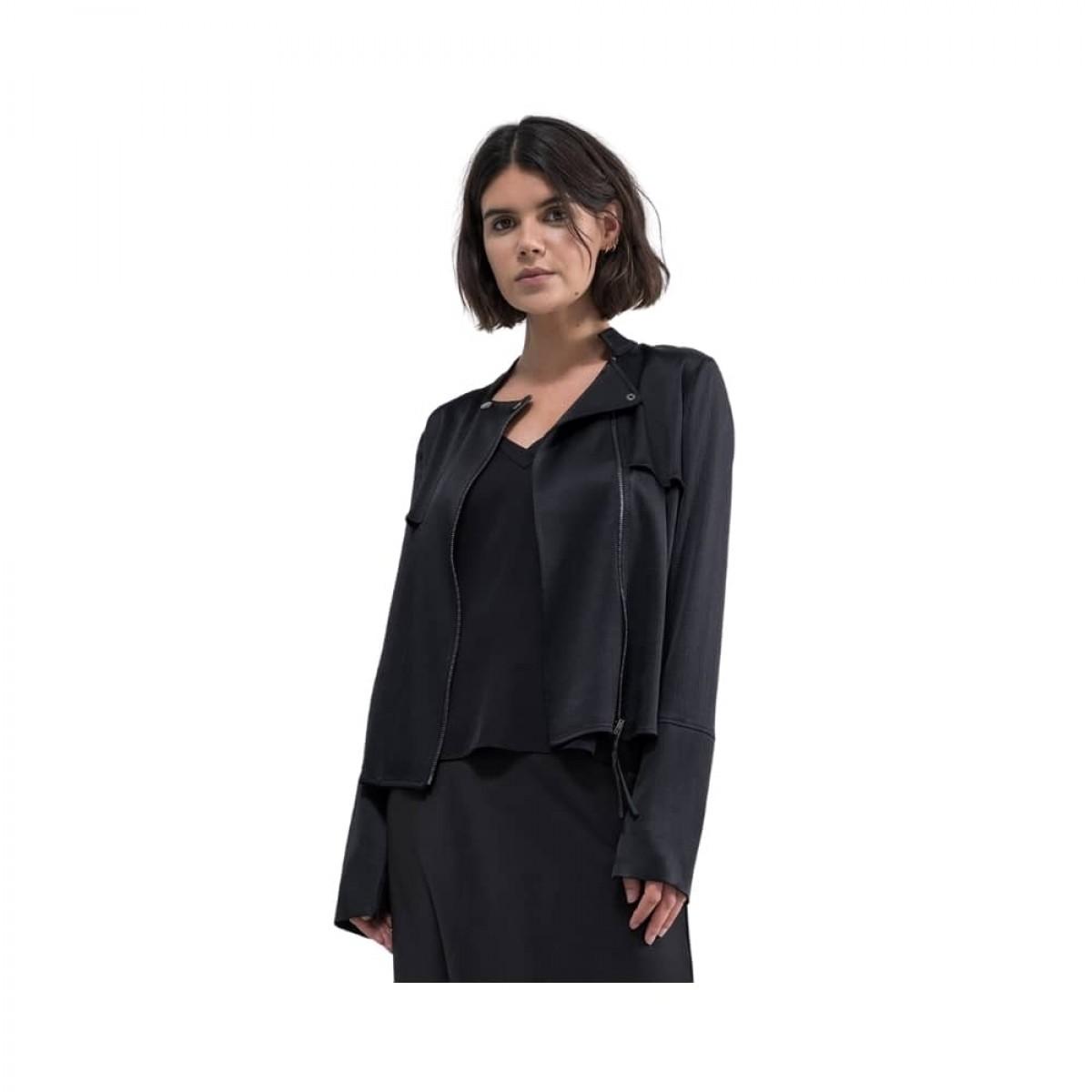 chana hammeres biker jacket - black - model billede front