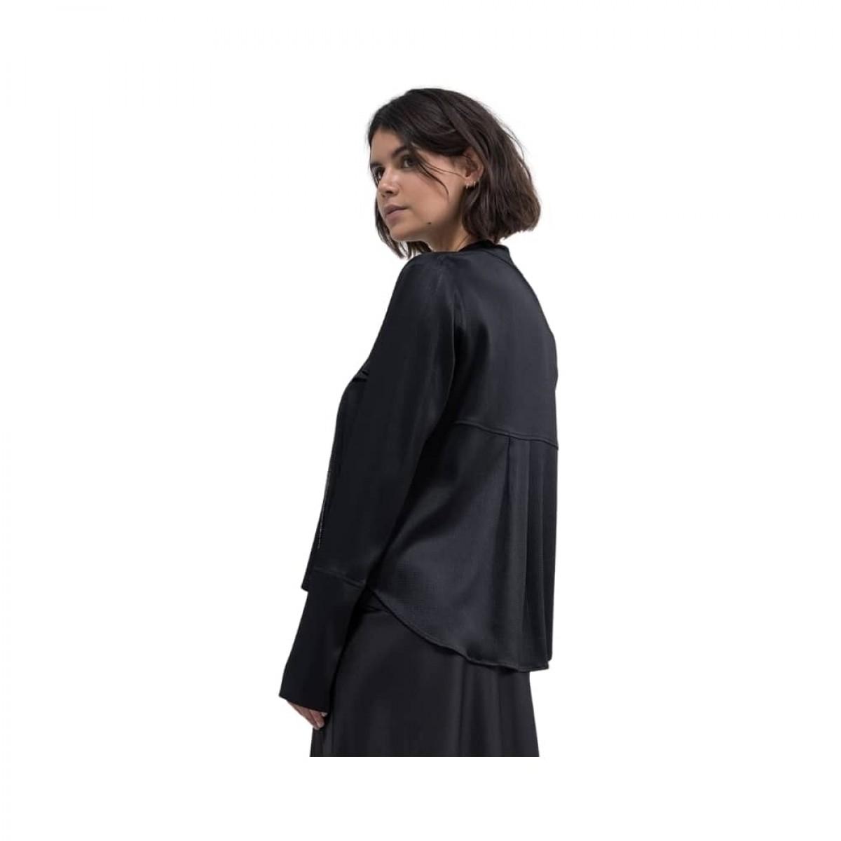 chana hammeres biker jacket - black - model billede fra siden