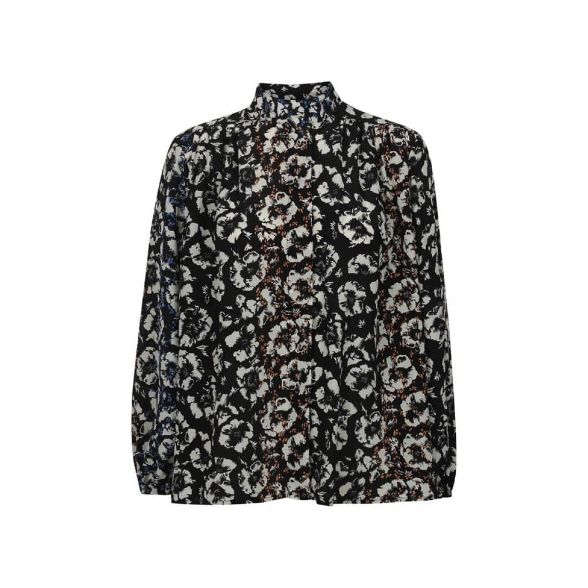 fifi bluse - black flowers - front