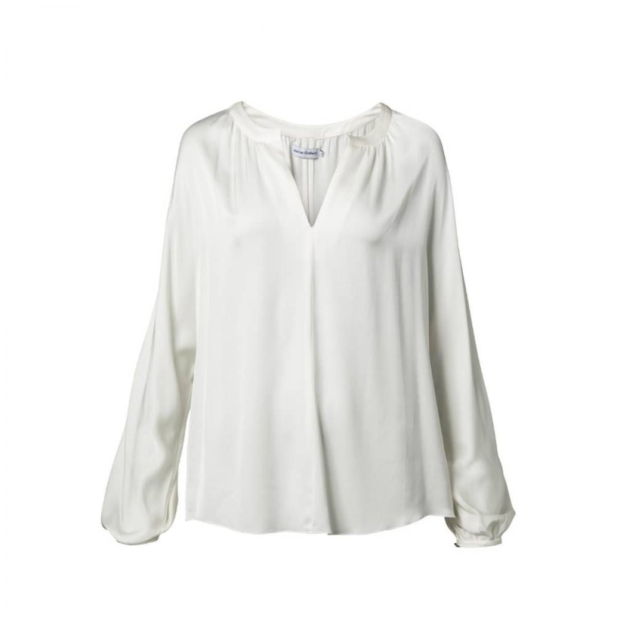 hiromi bluse - off white - detalje billede