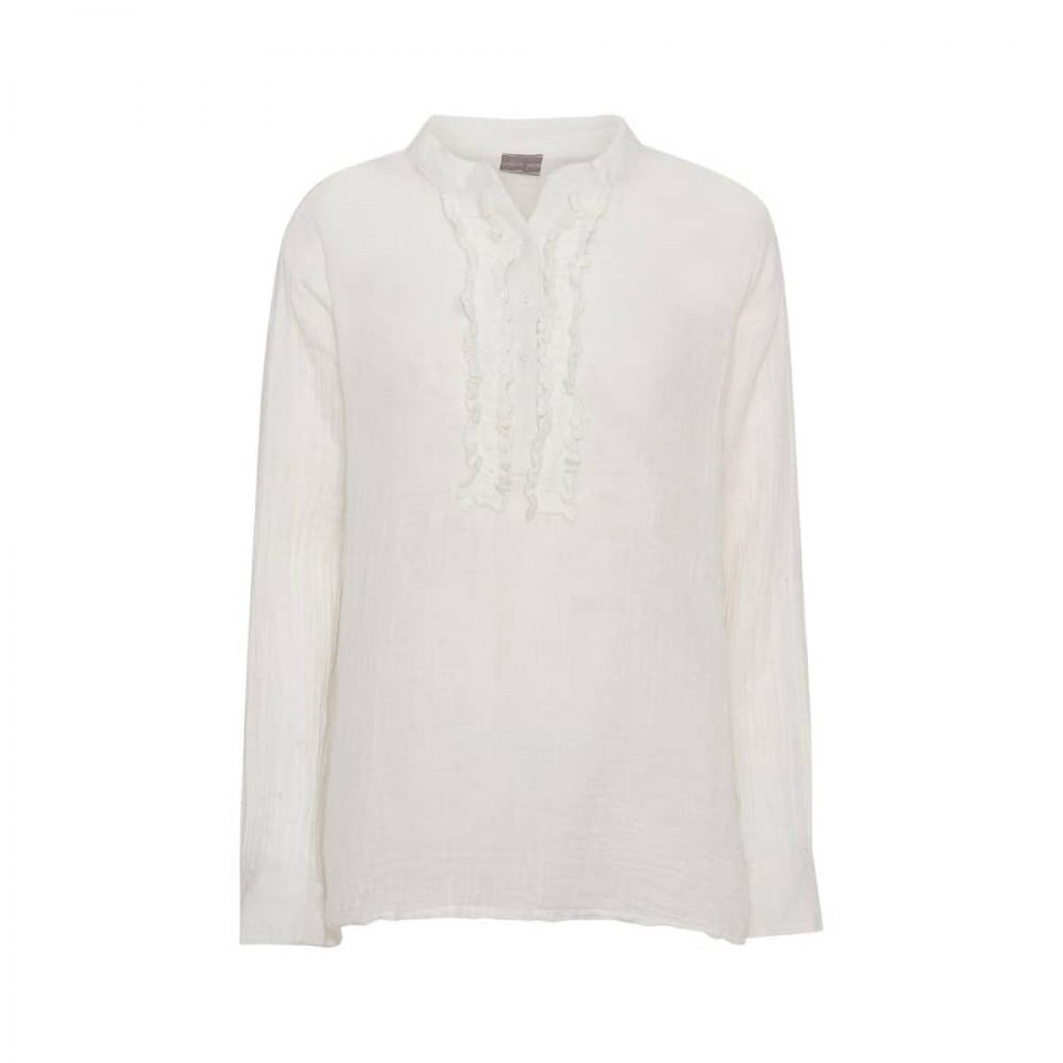 bomulds skjorte - white