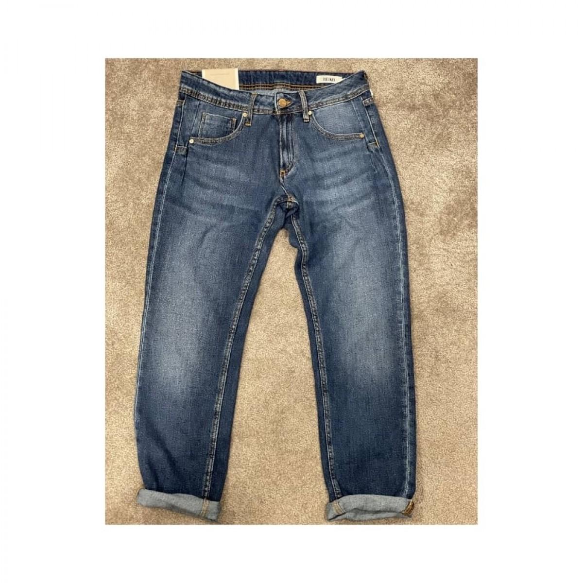nina boyfriend jeans - denim blue - front