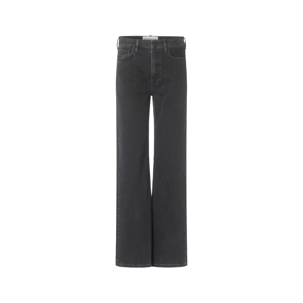 brown straight jeans - black