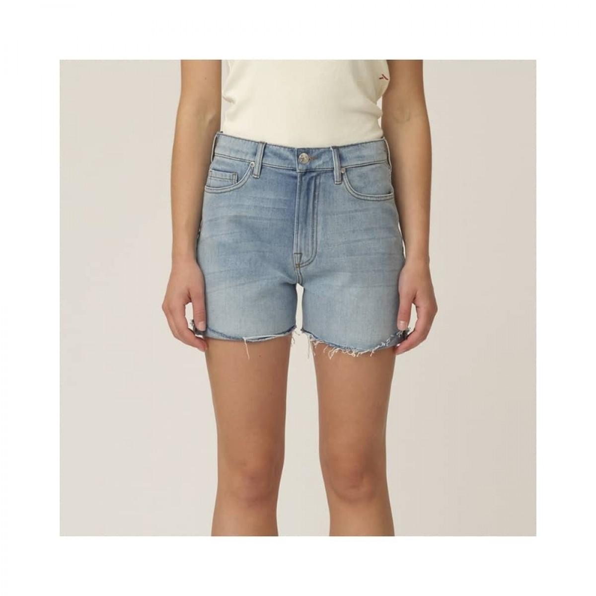brown straight shorts - light blue