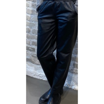 alberte skind bukser - black