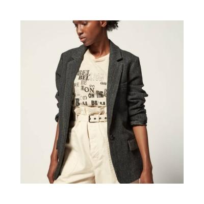 charly blazer jakke - black herringbone