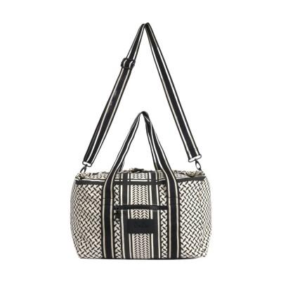 big bag muriel kufiya - off white/black