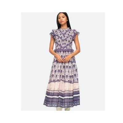 brigitte border kjole - violet