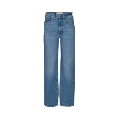 brown straight jeans - light blue