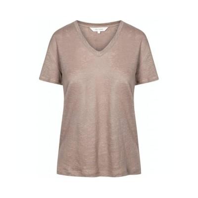 sif v-hals t-shirt - hazy brown