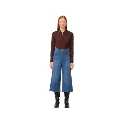 mandela culotte jeans - blue