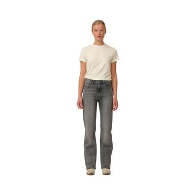 bowie hw cropped jeans - grey