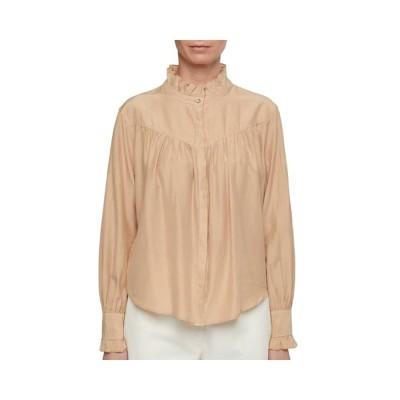 ensfarvet skjorte pomandére - cream