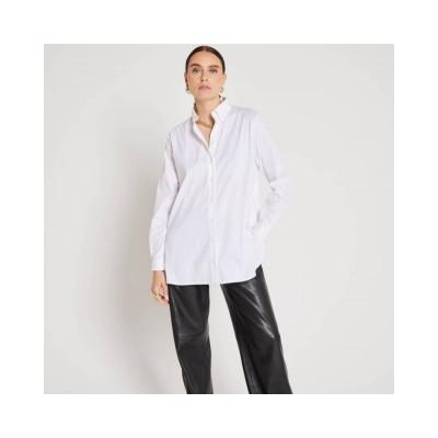 claudia skjorte - white