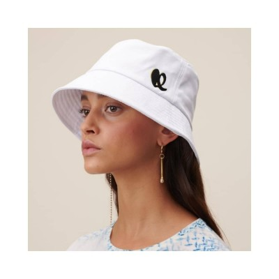 hat alicia bøllehat - white