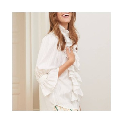 joanna skjorte - vanilla stripe