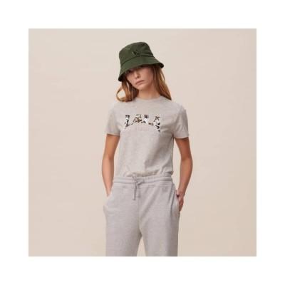 reda lala leo t-shirt - grey melange