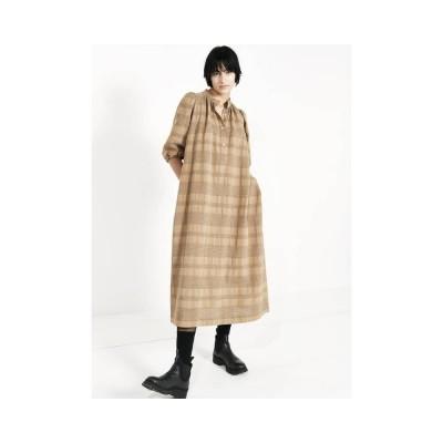 luna dress - harvest - model front