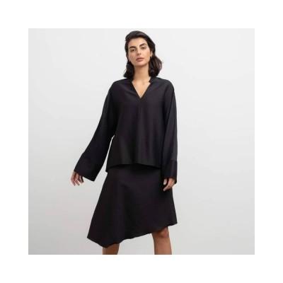 dina wool skirt - black