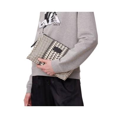 cosmetic bag pili - off white/black