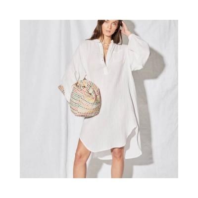 hena skjorte kjole - white
