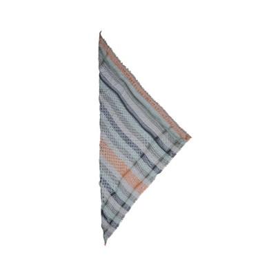 cotton triangle kufiya stripes tørklæde - olive