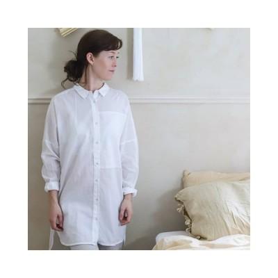 annie skjorte - white