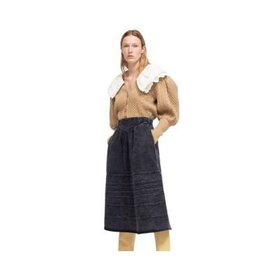 maura denim skirt - navy