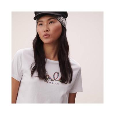 cara t-shirt rainbow - white