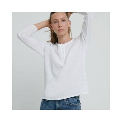 sonoma grandad bluse - white