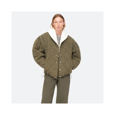 layla quilted jacket - army