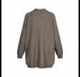 charlotte cardigan - stone grey melange