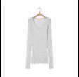 massachusetts bluse - heather grey