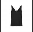 shin silke top - black